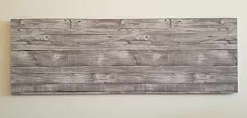 Muebles pejecar cabecero para Cama de 150 Fabricado en MDF con Papel Pintado Imitacion a Madera