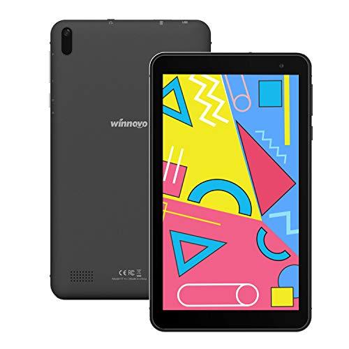Tablet 7-Pollici Android 10 WiFi- Winnovo 1GB RAM 16GB ROM IPS Display Bluetooth 4.0 Dual Camera GPS FM Certificato Google (Nero)