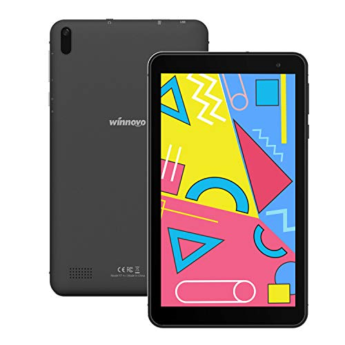 Tablet 7-Pollici Android 9 WiFi- Winnovo 1GB RAM 16GB ROM IPS Display Bluetooth 4.0 Dual Camera GPS FM Certificato Google (Nero)