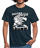 Photo de Sonic The Hedgehog Faster Than The Speed of Sound T-Shirt Homme, XL, Marine