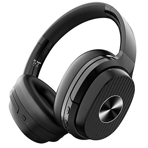 Noise Cancelling Kopfhörer EKSA 60 Std Wireless Bluetooth 5.0 Over Ear ANC Geräuschunterdrückende Kopfhörer Mikrofon CVC 8.0 Typ-C Schnellladen für Reise Büro