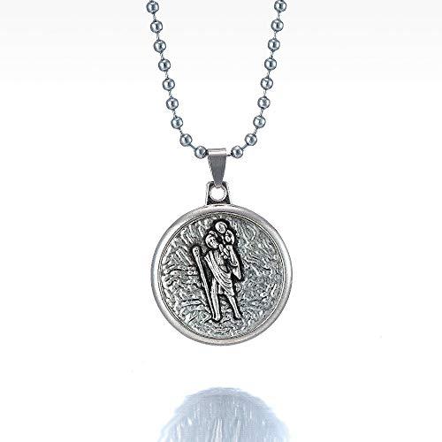 TUDUDU Tradición Virgen María Collares Pendientes De Dos Lados Collar De Nuestra Señora Y El Espíritu Santo Joyería De Jesús