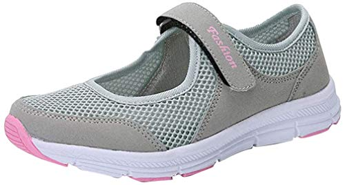 Tefamore Zapatos de Mujer Zapatillas Respirable Mocasines Deportes Casual Sandalias Antideslizantes Fitness Correr Calzado Deportivo Zapatilla Malla Plataforma