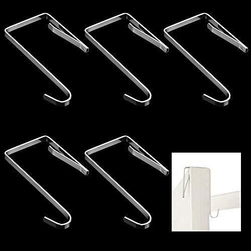 MZMing 12 Stück Türgarderobenhaken Einzeln Über Türhaken Kleiderhaken Badezimmerhaken Garderobenhaken Türhänger Haken Hochwertiges Metall Türhaken Ohne Bohren für die Küche Badezimmer Schlafzimmer