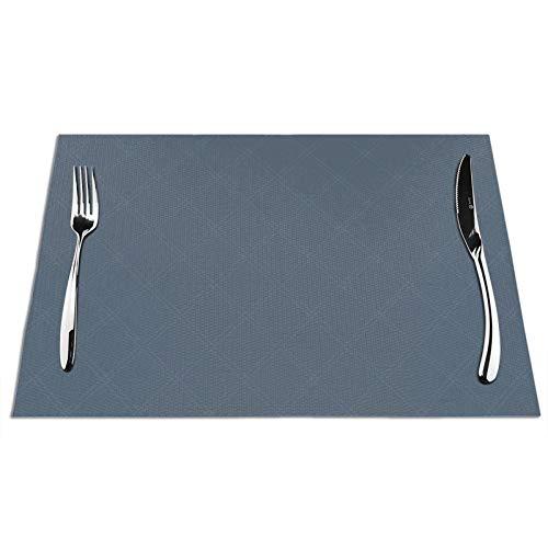 Manteles individuales para mesa de comedor, Cairn Plaid en Camelot azul, juego...