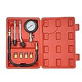 ThreeH 8Pcs Kit de Prueba de Compresión de Cilindro Motor Kit de Herramienta de Caja de medidor de compresión Set de compresor probador MA02A