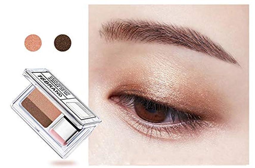 繁栄ポスターメッシュDouble Color Eye Shadow Makeup Palette Glitter Palette Eyeshadow Pallete Waterproof Glitter Eyeshadow Shimmer Cosmetics #02