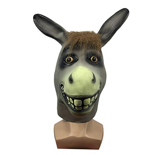 YHX Mscara Divertida del Sombrero del Animal del Burro pequeo, Sombreros Lindos de la Historieta de la Mascarada, Accesorios del Rendimiento de la Parodia del Partido