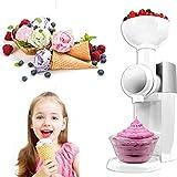Ice Cream Maker, Portable Automatic Frozen Yogurt, Soft-Serve Ice Cream, Sorbet, Fruit Dessert Maker For Home DIY Sorbet Maker White Easy Clean