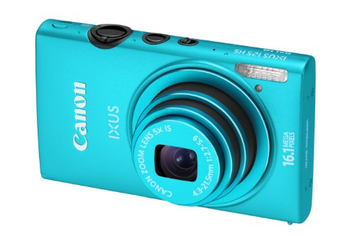 Canon IXUS 125 HS Digitalkamera (16 MP, 5-fach opt. Zoom, 7,5cm (3 Zoll) Display, Full HD, bildstabilisiert) blau
