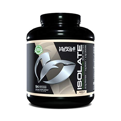 Muscle Feast Pasture Raised + Grass Fed Whey Protein Isolate + RBST/rBGH & Soy Free, Vanilla, 5lb