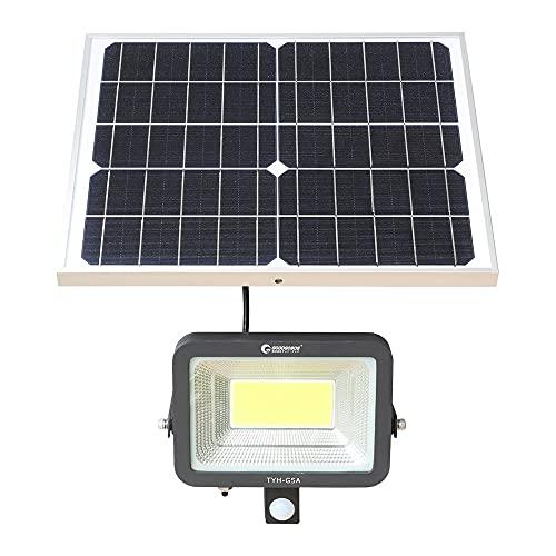 グッドグッズ(GOODGOODS) COB LED 屋外 センサーライト ソーラー ソーラーライト 人感センサー 防水 昼光色 50W 2つ知能モード 玄関 駐車場 庭 TYH-G5A