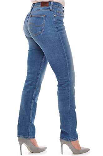 Lee Emlyn Pantalones Vaqueros Delgados, Azul (Authentic Blue Qd), 26W / 31L para Mujer