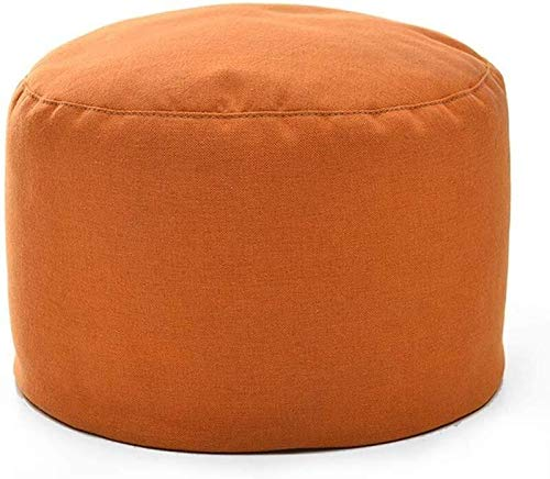 MMWYC Stockage Tabouret Repose-Pieds, Ronde Pouf Chaise Confortable siège rembourré Footchair Pied Rest Home Canapé Chaise Repose-Pieds (Color : Orange)