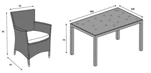 Polyrattan Gartenmöbel-Set Bild 3*