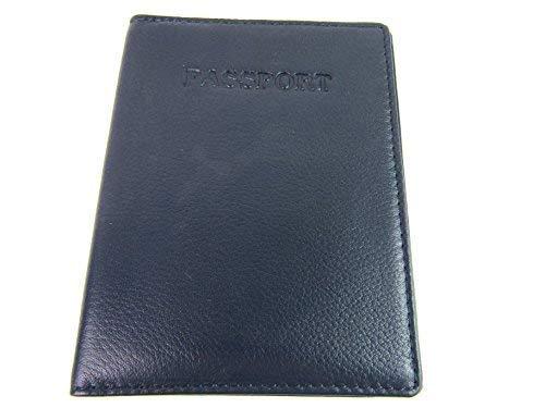 Premium Qualität RFID Blockierung Pass-Etui - Marine, 10cm 13.5cm 05.cm