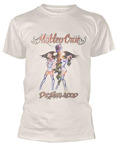 Motley Crue 'Dr Feelgood' (Beige) T-Shirt