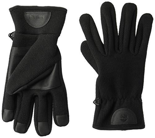 Timberland Herren Ribbed-Knit Glove with Touchscreen Technology Handschuhe für kaltes Wetter, schwarz, Klein
