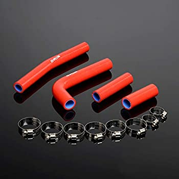 High Temperature 3-Ply For YAMAHA 1998-2002 YZ400F/WR400F/YZ426F/WR426F Silicone Radiator Coolant Hose With Clamps Kit 1999 2000 2001 Red 4PCS