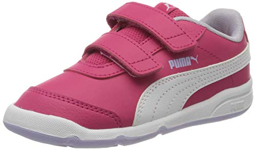 PUMA Unisex-Kinder Stepfleex 2 Sl Ve V Inf Sneakers,  Rosa (Bright Rose/Puma White/Purple Heather/Peony 15), 27 EU