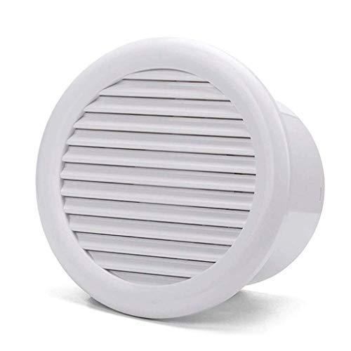 DFBGL Ventilador de extracción, Ventilador de ventilación de Techo de Descarga Vertical Blanco, Plástico Cuadrado Blanco