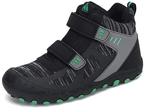 Zapatos de Senderismo Niño Zapatillas de Trekking Niños Zapatos Deportivos Cómodo Transpirable Antideslizante Montaña Al Aire Libre Negro 30