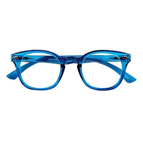 Lesebrille LOLLIPOP, blau, 1.50 dpt.: Lesebrille mit Federtechnik, Stärke: +1.50 dpt. (in weiteren Farben/Stärken erhältlich)