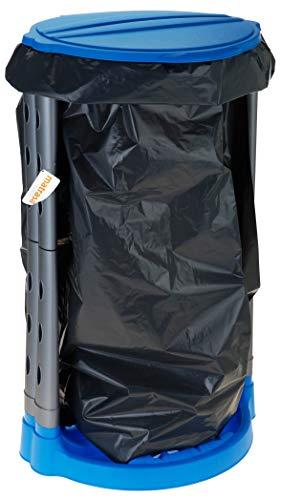 matrasa Stabiler Müllsackständer - ideal für Gelber Sack - für Säcke bis 120 L - Müllsackhalter Abfallhalter (120L - blau)