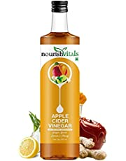 Nourish Vitals Apple Cider Vinegar with Ginger, Garlic, Lemon and Honey (Raw, Unfiltered with Mother) 500ml