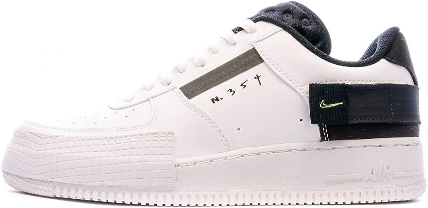 Nike Air Force 1 Type Blanco/Negro AT7859-101 para ... - Amazon.com