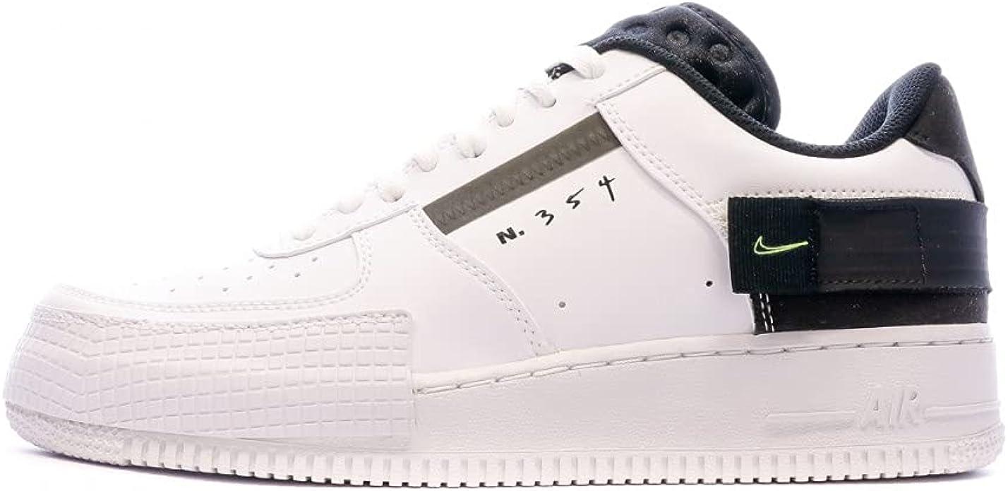 Amazon.com: Nike Air Force 1 Type Blanco/Negro AT7859-101 para ...