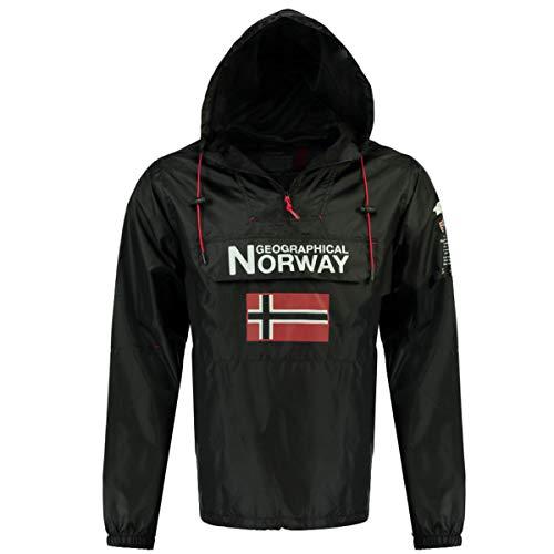 Geographical Norway Parka Cortavientos DE Hombre BUTAGAZ Negro M