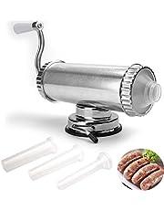 Lawei 2 lb Worst Stuffer - Horizontale Keuken Vulling Maker Roestvrij Staal Vlees Worst Machine voor Huishouden Commerciële