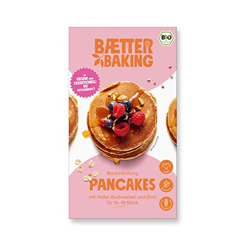 Baetter Baking Bio-Backmischung Pancakes, 300g, glutenfrei, vegan & mit Kokosblütenzucker