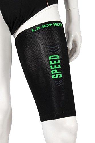 LINDNER Socks - Kompressions-Oberschenkel-Beinlinge - Upper leg tubes (L, schwarz)