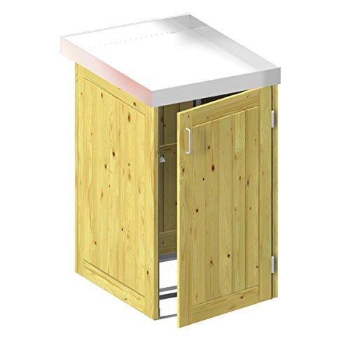 *BINTO Holz Mülltonnenbox System 1P – für eine Mülltonne inkl. Pflanzschale – 5105*