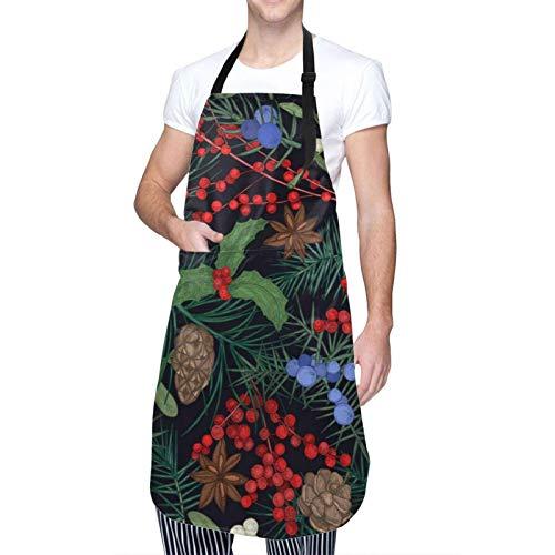 Elegante delantal de invierno de temporada bonito impermeable impreso en impresión única para mujeres y hombres