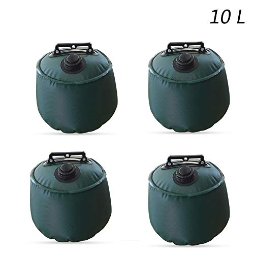 cyberjotting 4 Pack Gazebo Water Weights Industrial Grade Heavy Duty Double-Stitched Water Weight Bags, Leg Weights For Pop Up Canopy Tent Sun Shades, Umbrella, Trampolines Weighted Feet Bag