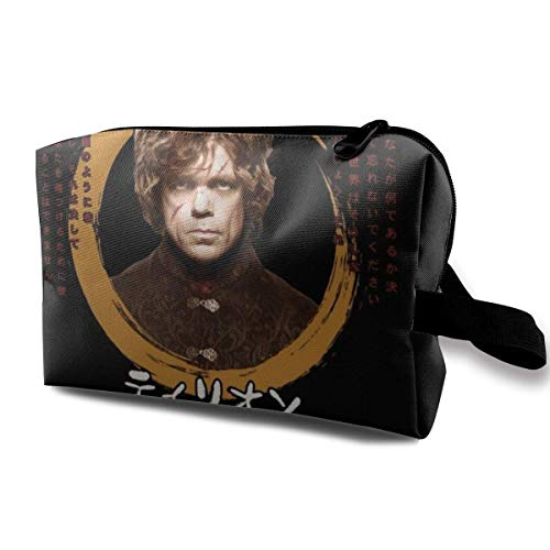 Makeup Bag Cosmetic Pouch Tyrion Lannister Japanese Text Multi-Functional Bag Travel Kit Storage Bag