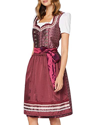 Stockerpoint Damen Dirndl Giselle Kleid für besondere Anlässe, Bordeaux, 32