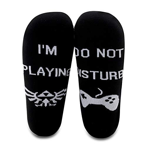 G2TUP Zelda 2 Pairs Crew Sock Breath of the Patterned Game Gift (Black, Mid Calf)