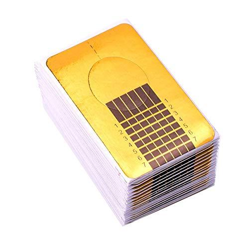 Sxgyubt Lot de 50 outils de manucure carrés taille unique doré
