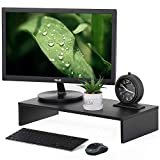 INDIAN DECOR 39100 Wood Monitor Screen Riser Stand Desktop Stand with Keyboard Storage