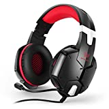 AN Single Plug Headphones, Noise Reduction Gaming Headset Omnidirectional Noise Reduction Microphone Built-In