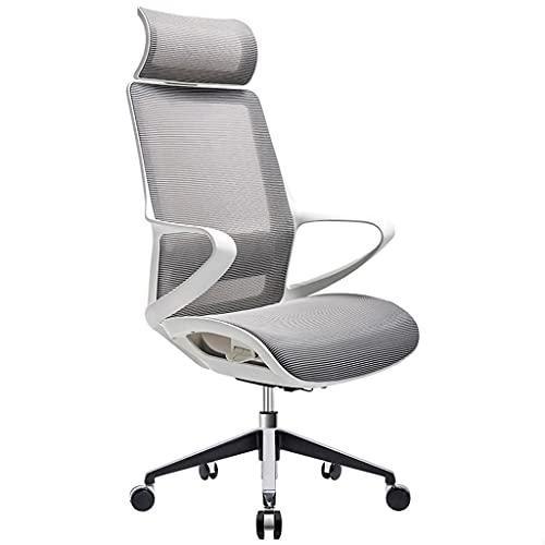 Ergonomischer Bürostuhl, integrierter Rückenlehne Taille Home Mesh Computerstuhl, atmungsaktives und komfortables Heimstudium Gaming-Stuhl (Color : Grau)