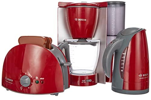 Theo Klein 9580 Zestaw śniadaniowy Bosch | Zestaw kuchenny zawiera toster, ekspres do kawy i czajnik | Wymiary opakowania: 44,5 cm x 13 cm x 24,5 cm |