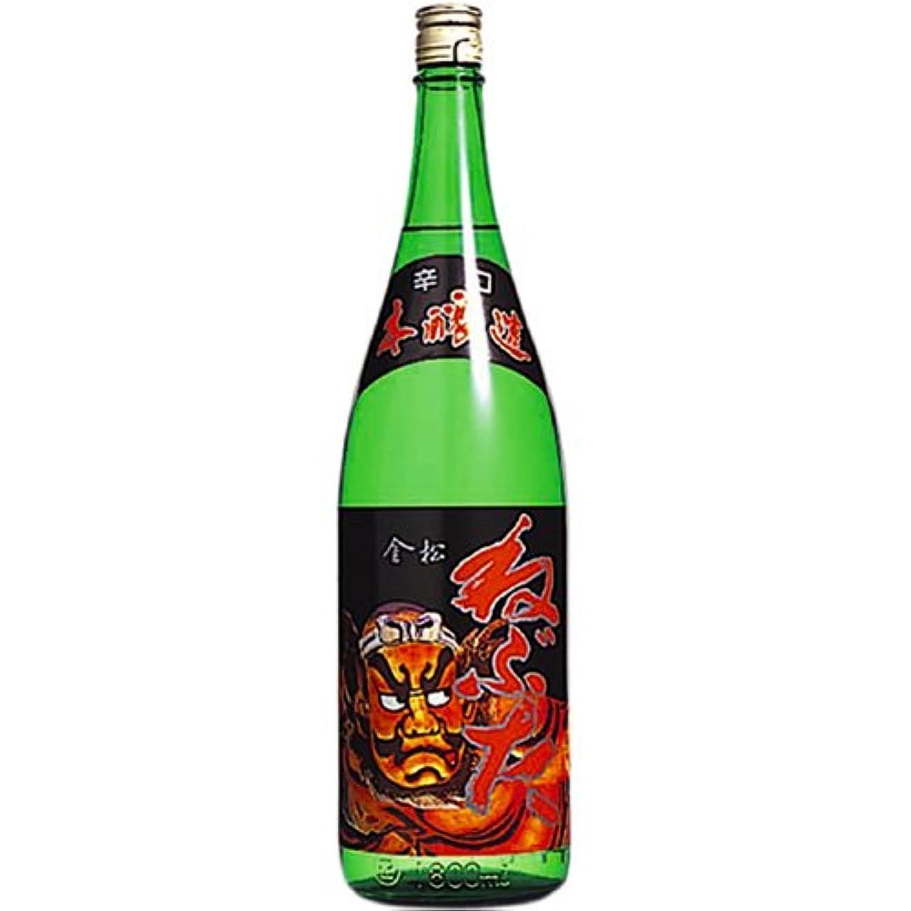 スズメバチパイプライン開示するねぶた 金松本醸造 [ 日本酒 青森県 1800ml ]