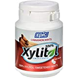Epic Dental Mints - Cinnamon Xylitol Bottle - 180 ct - Gluten Free - Sugar free and sweetened exclusively with xylitol