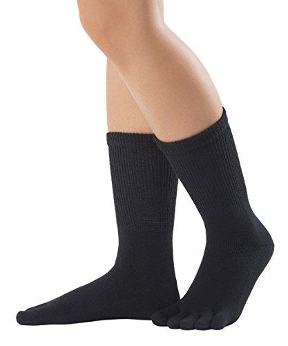 Knitido Fußrelax Komfort-Zehensocken mit Komfortschaft, ohne Gummiband, Größe:35-38, Farbe:Schwarz