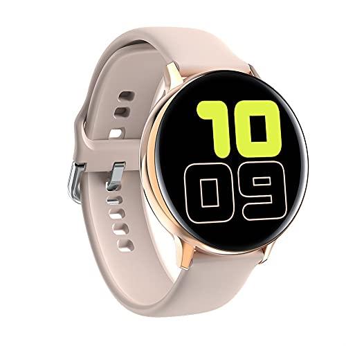 Smart Watch Sports Pantalla táctil Completa ECG SmartWatch Man Mujer Bluetooths Pulsera Inteligente para Android iOS (Color : Pink)